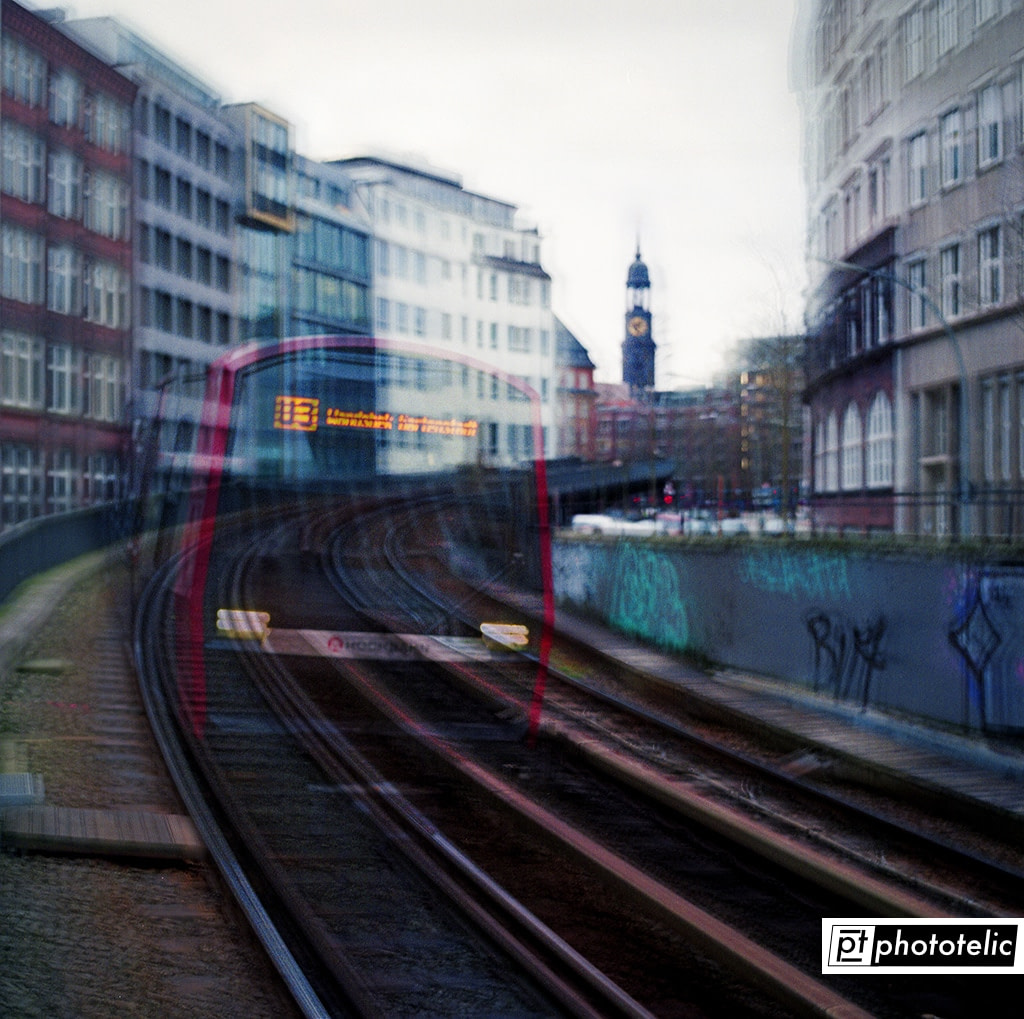 Ghost Train - Hamburg - St. Michaelis in Background