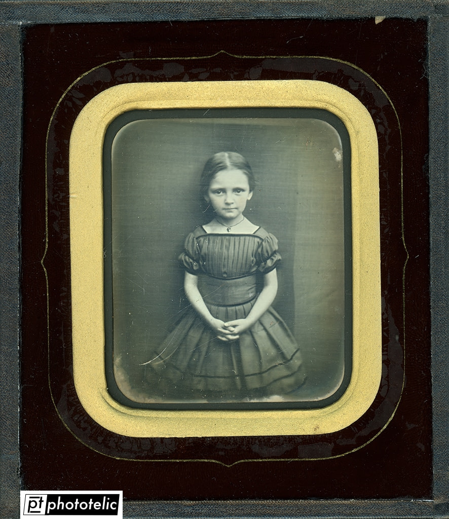 Daguerreotype of a young girl - Restoration - After