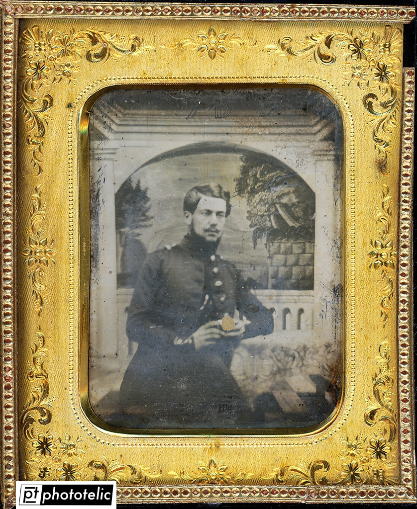 Daguerreotype of a soldier - After